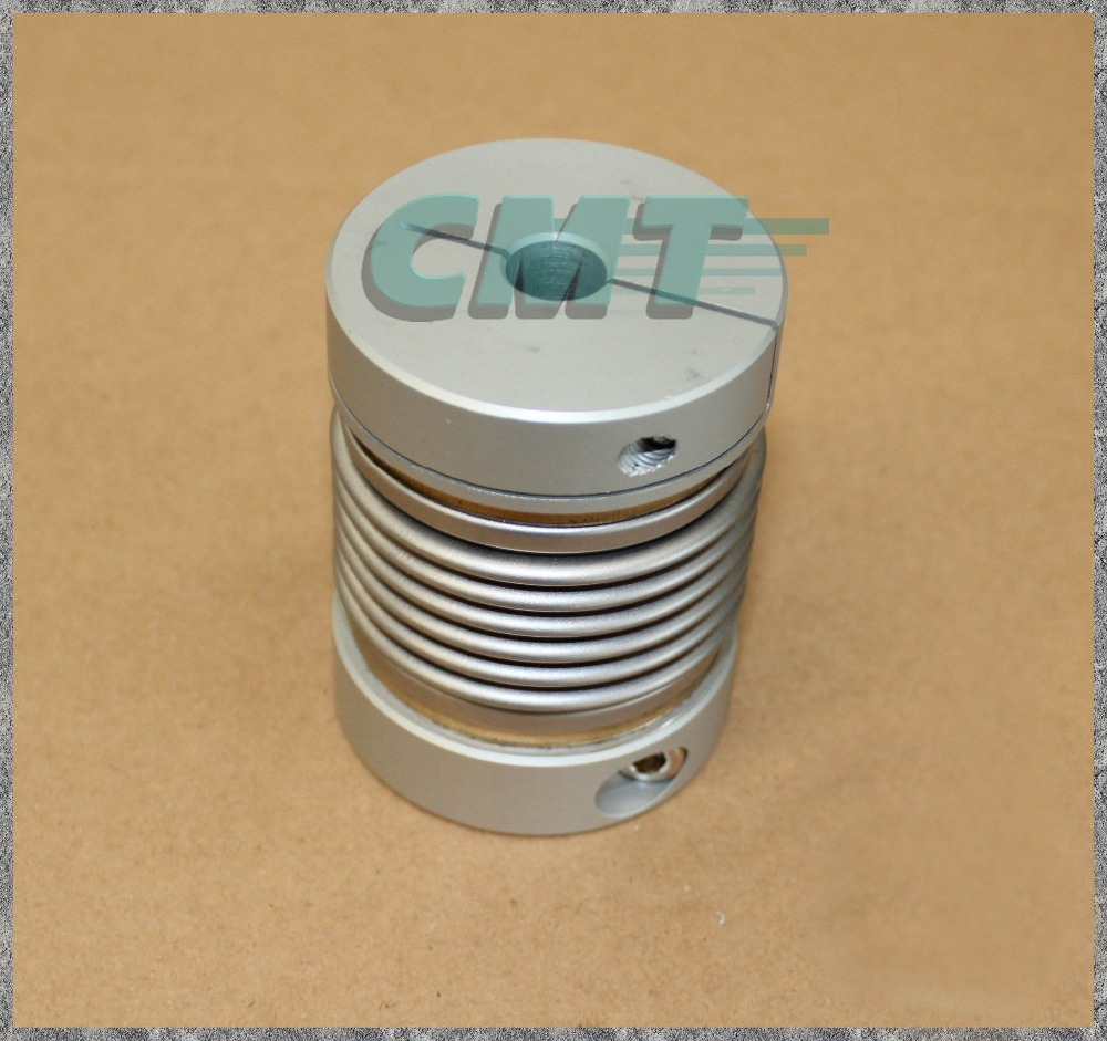 Clamping Aluminum bellows coupling High sensitivity and High Torque Coupling for Encoder test machine D=55 L=72 D1&D2 at 14-28MM new flexible aluminum alloys double diaphragm coupling for servo and stepper motor couplings d 44 l 50 d1 and d2 are 8 to 20 mm