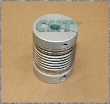 Зажимной Алюминиевый сильфон муфты Высокой чувствительностью и Высоким Крутящим Моментом Муфта для Датчика тест машина D = 55 L = 72 D1 и D2 в 14-28 ММ