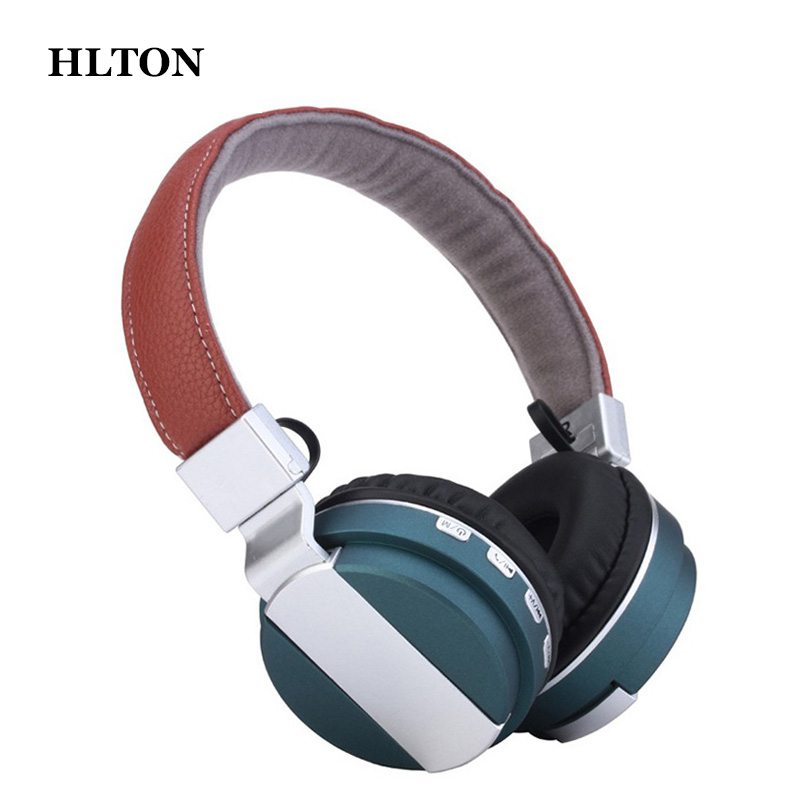 HLTON Foldable Bluetooth Wireless Headphone Handfree Stereo Bass Headset TF AUX FM Radio Earphone For iphone Android MP3 Player ks 509 mp3 player stereo headset headphones w tf card slot fm black