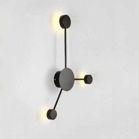pos moderna lampada parede simples led