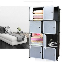 Modern 20 / 12 / 8 Lattice DIY Assembled Wardrobe Simple Wardrobe Hanging Clothes Storage Cabinet Baby Wardrobe Home Furniture