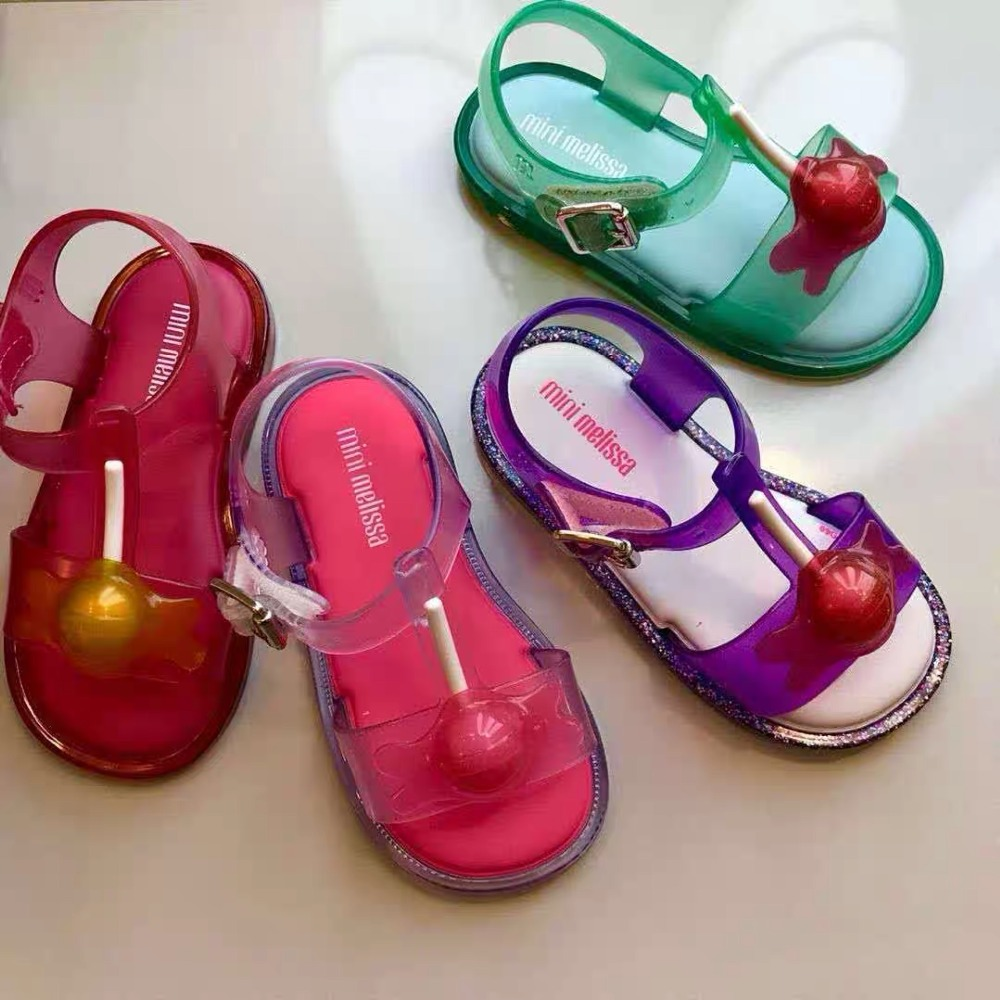 Mini Melissa Lollipop Princess Girl Sandals 2019 New Girl Jelly Sandals Kids Sandals Children Beach Shoes Non-slip Toddler Shoes