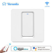 Smart life Tuya App Wifi Smart Wireless Remote Control light Wall Switch EU Button wall switch Work with Alexa Google Home все цены