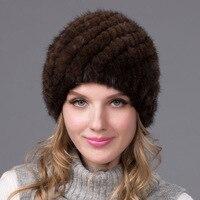 Autumn and winter mink fur hat women's authentic natural fur caps Russian hat fashion quality thick fur hat BZ 03
