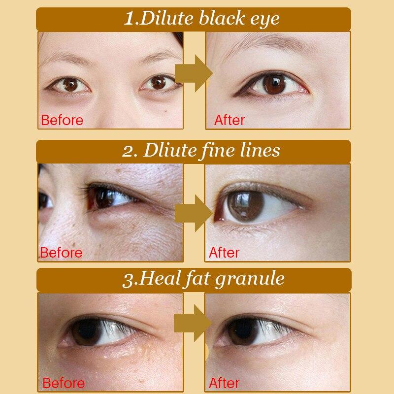 40pcs polvo de colágeno de cristal natural oro máscara de ojos - Cuidado de la piel - foto 5
