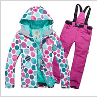 Free Shipping Hot Sale Lady Snowboard Ski Suit Jacket Clothes Sets Pants Windproof Waterproof