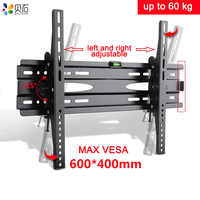 TV Wall Mounts Adjustable Ultra Slim Tilting Bracket for 32-65 Inch LED LCD TVs up to VESA 600x400mm and 132lbs Loading Capacity