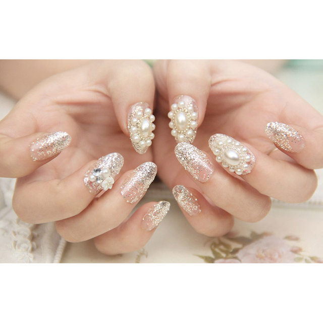 Nails Designs Princess Nail Art Rhinestone Glitter Decoration/Lovely Solid  Imitation Pearl Decoration For Nails - Nails Designs Princess Nail Art Rhinestone Glitter Decoration/Lovely