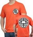 Animação T-shirt roupas De Dragon Ball Kame Símbolo Goku De Dragon Ball Z camiseta Super Saiyan Macaco manga curta para os homens novo estilo