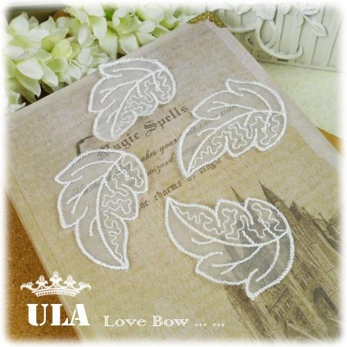 embroidery appliques leaves designs DIY Decoration Lace Fabric Paste Decoraive Cloth  Lace Applique wedding appliques 120pcs/lot