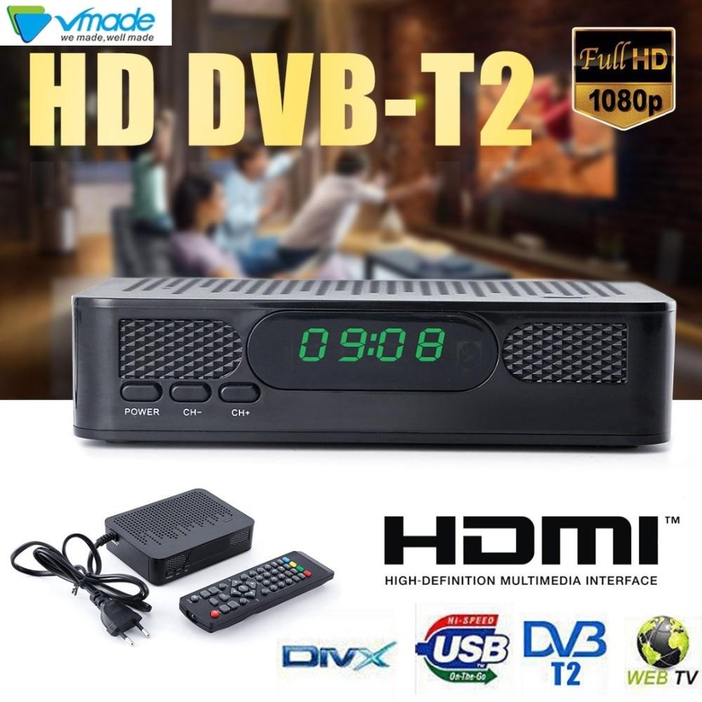 2018 newest box VMADE DVB-T2 K3 Set Top Box DVB T2 Terrestrial Receiver Full HD 1080P Digital H.264 MPEG4 Support WIFI 3D TV Box tdt 1108v dvb t2 digital terrestrial receiver hd h 264