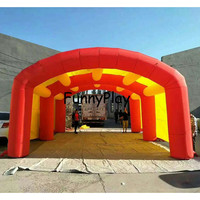 arch shape tunnel with blower toy tents tunnel sport entrance balloon booth pop up tunnel tents for party events