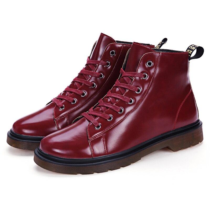Boots Rouge Mode Vintage red Cheville Chaussures Hiver Hommes Bottes Thestron Sport Cuir Sécurité Black En Boots white Boots Mâle Blanc Homme De 2018 Noir cqz1nWT