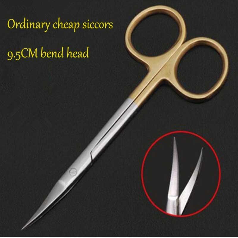 9,5 см обычные Дешевые Медицинские Хирургические глазные ножницы, ножницы для красоты, ножницы для мягких тканей