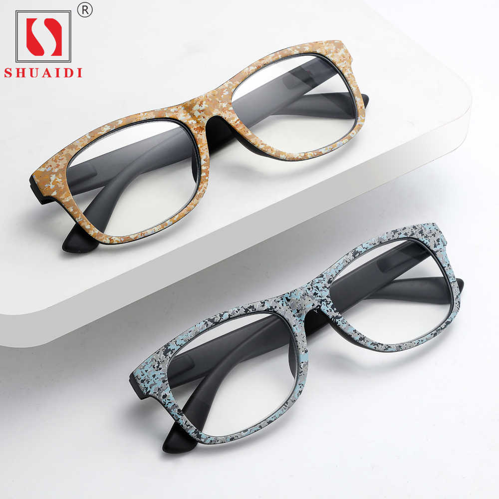 8fbcf0f07c 2018 Big Square Wood Frames Men Reading Glasses for Women Reader Presbyopic  Magnifying Glasses with Diopter