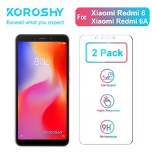 2 Pack KOROSHY 9H Tempered Glass for Xiaomi Redmi 6 6A Xiomi Screen Protector 0.3mm Protective Toughened Film