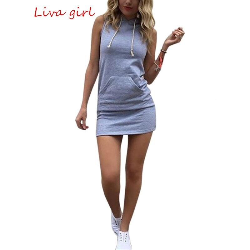 Mujeres del verano más tamaño vestidos casuales sin mangas bodycon mini dress se