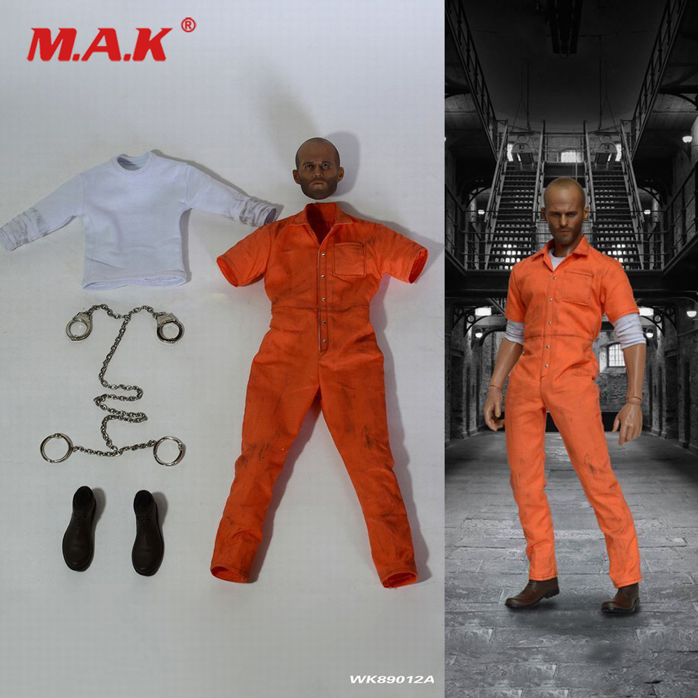 1:6 Scale Male Figure Accessory Jason Statham Prison Clothes Sets Costume & Head Sculpt & Shoes & Accessory for 12 Man Figure1:6 Scale Male Figure Accessory Jason Statham Prison Clothes Sets Costume & Head Sculpt & Shoes & Accessory for 12 Man Figure