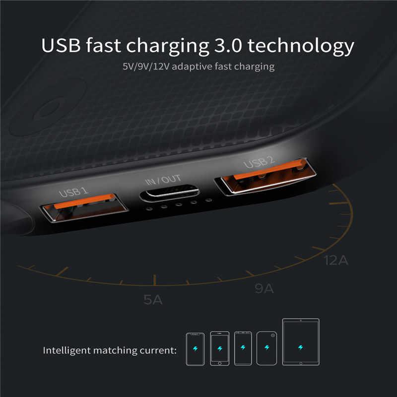 Baseus 20000mAh быстрая зарядка 3,0 power Bank type-C PD Быстрая зарядка Внешняя батарея зарядное устройство power Bank для iPhone Xs samsung S9