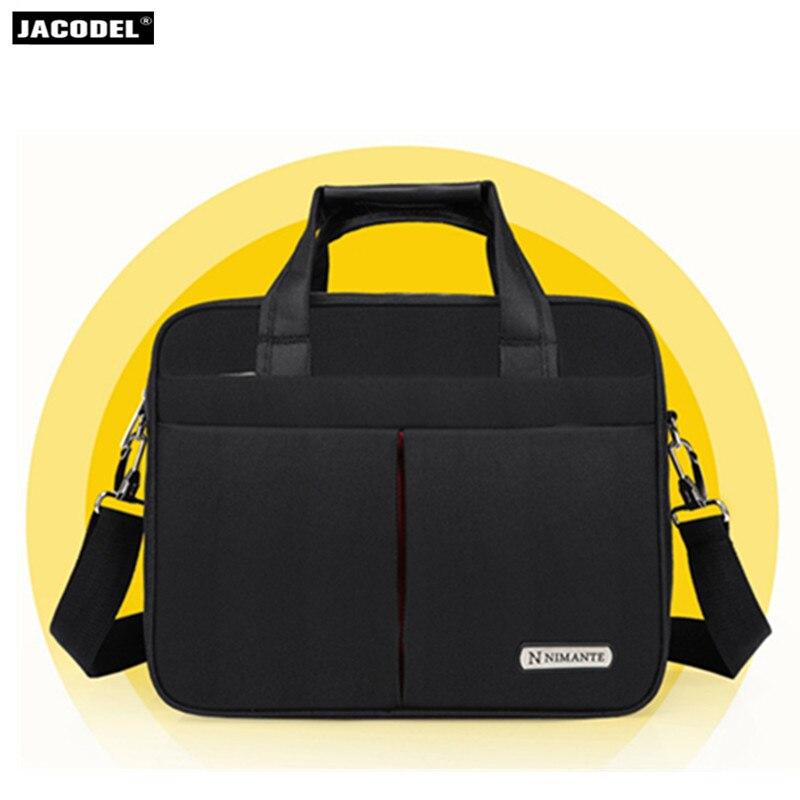 Jacodel Laptop Shoulder Bag Women Men Notebook Messenger HandBag Briefcase Carry Bags for Lenovo Laptop Bag Black 13 15 inch
