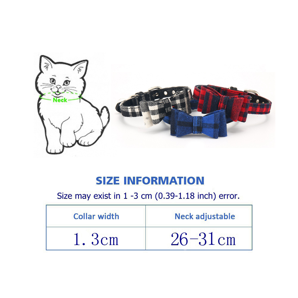 Cat Collar With Bell Dog Collar For Cats Solid Braid Kittens Pet Cat Collars Shiny Adjustable Collars For Cats Pet Lead Supplies (12)