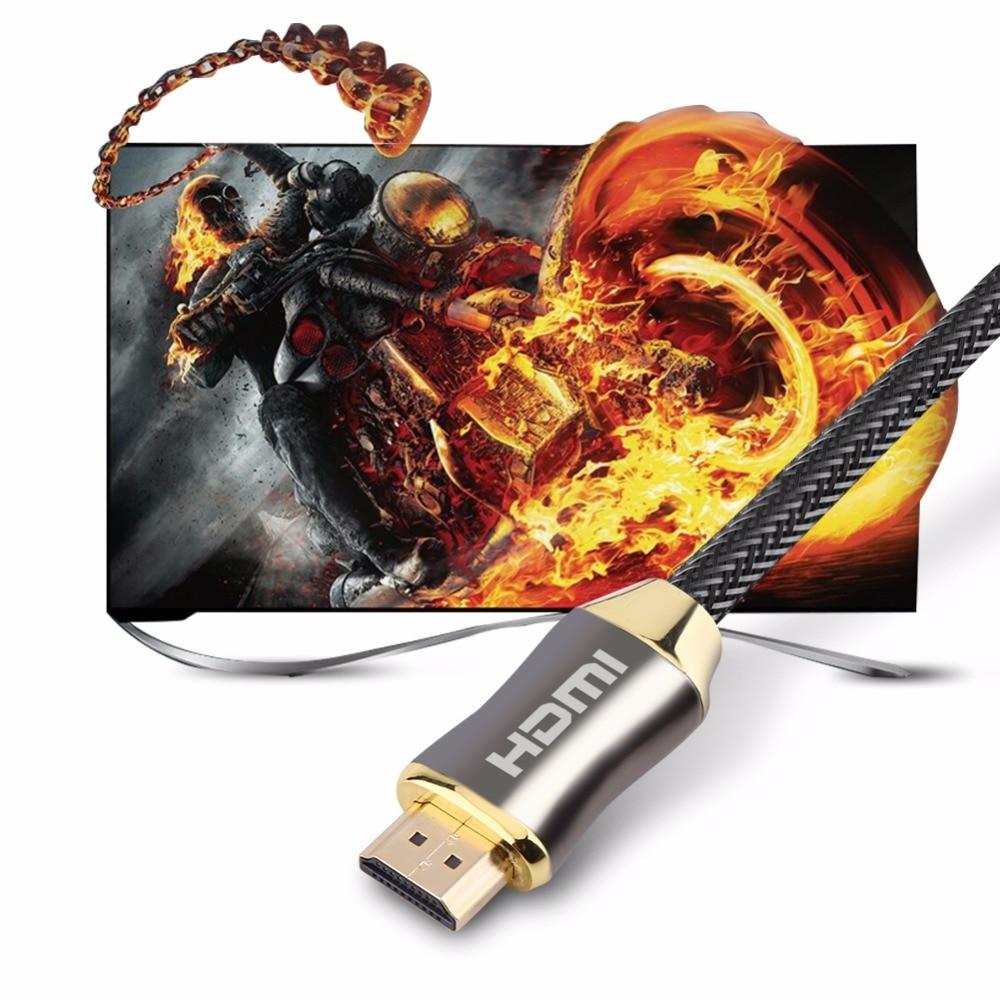 Ultra HD HDMI Cable V2 0 2K x 4K 1 10m Zinc Alloy High Speed Ethernet