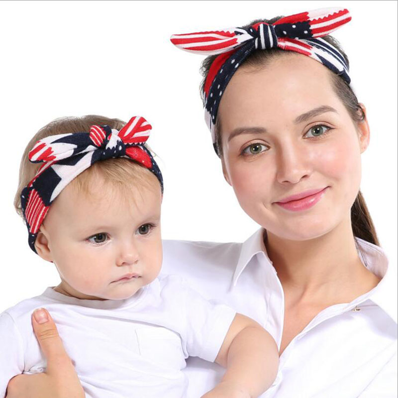 JRFSD New Cute DIY Headband 9 Style Color Elastic Knot Hair Band Soft  Kids/Mother Hairband Kids Hair Accessories BM-01 12pc set elastic hair rubber band children hair unicorn headband kids hair accessories gril hair band set cute unicorn cartoon