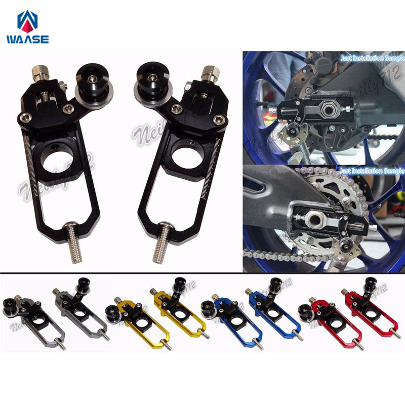 waase Chain Adjusters with Spool Tensioners Catena For Honda CBR600RR 2007 2008 2009 2010 2011 2012 2013 2014 2015 2016 waase front sprocket chain guard cover engine for kawasaki veysys 650 2006 2007 2008 2009 2010 2011 2012 2013 2014 2015 2016