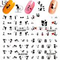 1 sheet Black Cute Sexy Cat Design Water Transfer Foil Printing Nail Art Sticker Decals Decorations DIY Nail Styling Tools #BLE