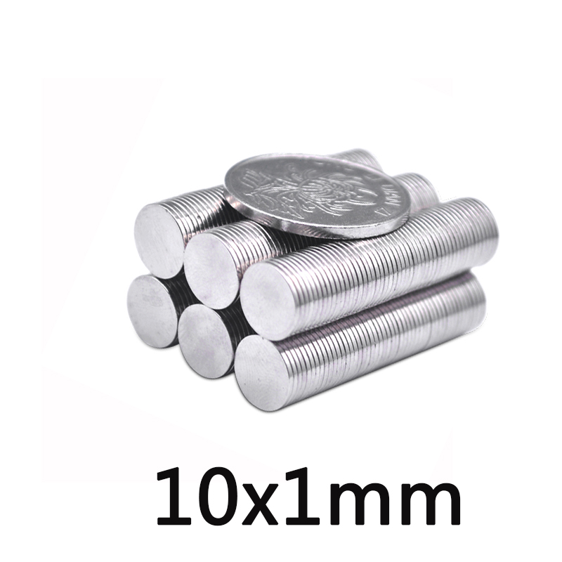 30/50/100pcs Super Strong Powerful 10*1mm Small Earth Neodymium Magnet 10x1mm Round NdFeB Rare image