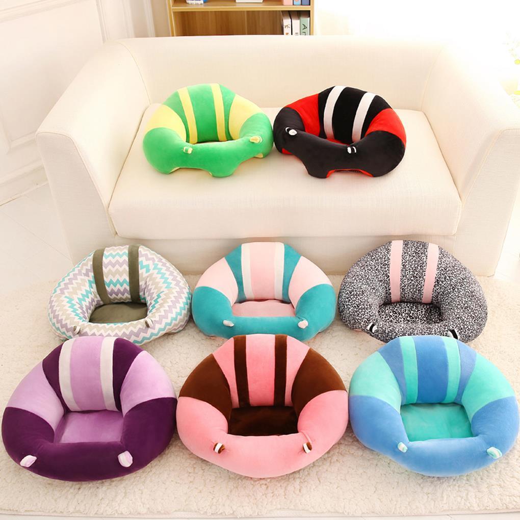 Красочные детские Поддержка сиденье учиться сидеть мягкий стул едят Safe Подушка Диван детские плюшевые подушки игрушки ...