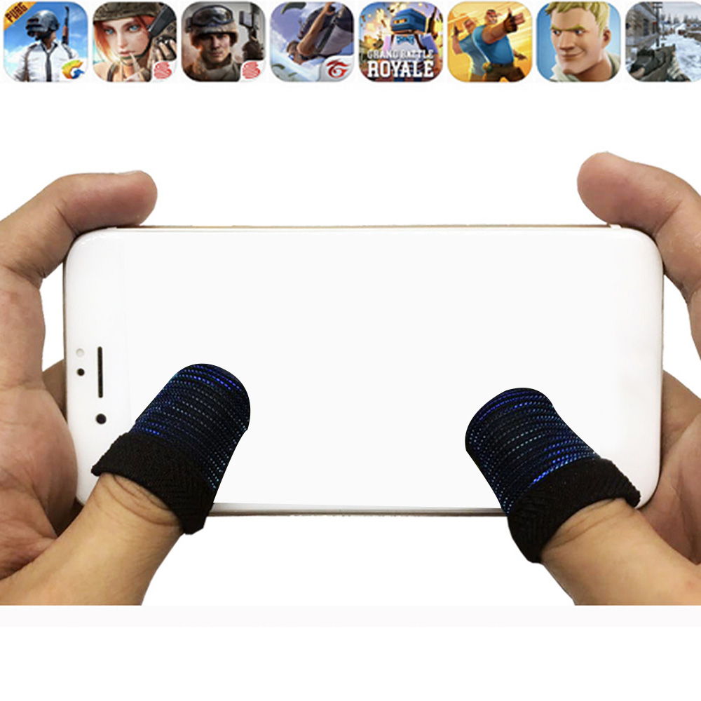 1 Pair PUBG Mobile Game touch screen Controller Sweatproof Breathable Finger Cots Accessories protection screen for moblie phone