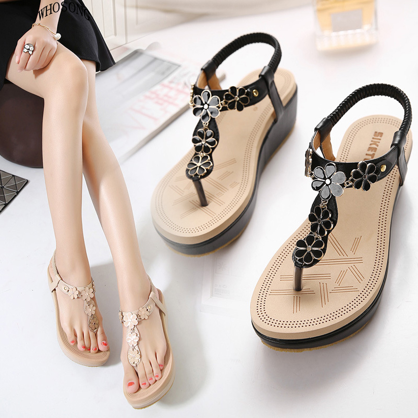 WHOSONG  Summer Sandals Women Platform Fashion Flip Flops Comfortable Shoes Woman 35-40 M143
