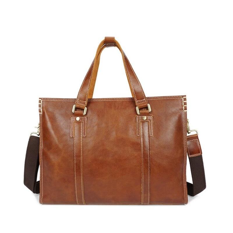 Freies Xz Echtem brown braun Yoofish Verschiffen Laptop Unisex Verkauf Business Handtasche Coffee Kaffee Leder Casual Tasche Heißer 063 qSw1x6vU