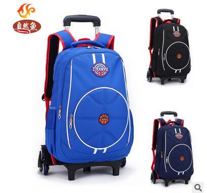 kids School rolling Bags On wheels Trolley backpacks wheeled backpacks kid School Rolling backpack for boys Children school bag