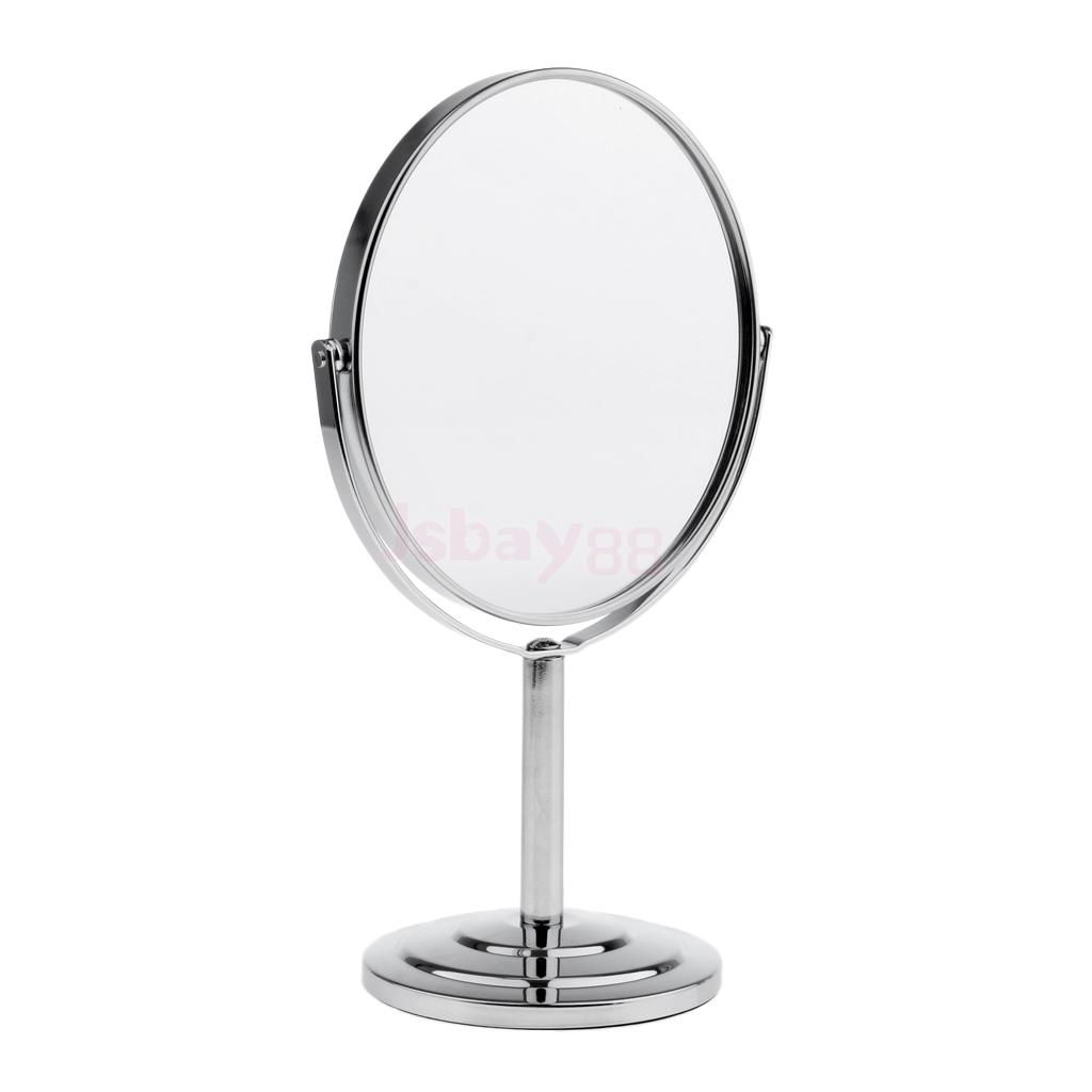 Two-Sided 360 Degree Swivel Table Mirror Normal & Magnifying Makeup Mirrors