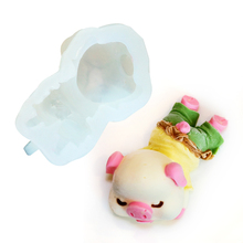 Pig Cake Mold Fondant Molds 3d Silicone Candle Chocolate Mousse Pudding Ice Cream Soap Mold DIY Cake Decoration Baking Mould 1pc random color honey comb bees mold beeswax silicone pan cake mould ice jelly chocolate mold diy cake decoration ok 0975