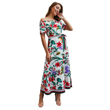 Women Dress 2019 Summer Sexy Off Shoulder Floral Print Dress Boho Style Short Party Beach Dresses Vestidos de fiesta N20D 2019 new sexy women dress summer off shoulder floral print chiffon dress boho style short party beach dresses vestidos de fiesta