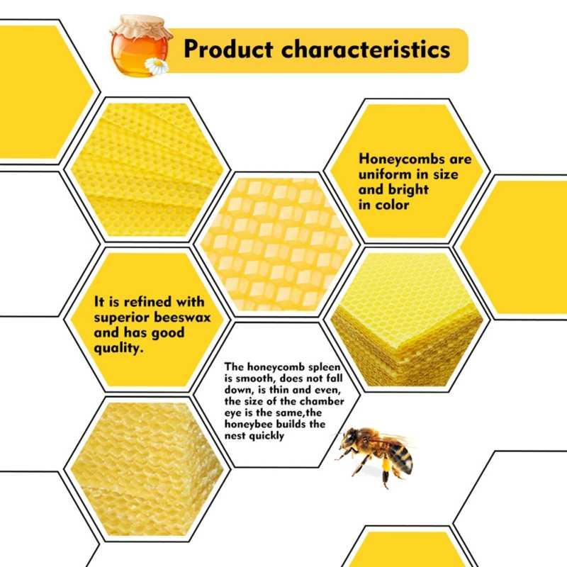 עמיד שאינו רעיל שעוות דבורים חלת דבש בסיס גיליון כוורת קן קרן דבש כוורת ציוד דבורה אספקת כלים גידול דבורים