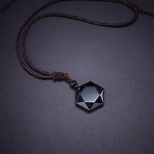 Natural Energy Stone Black  Pendant
