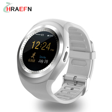 Hraefn Reloj inteligente Y1 Smart Watch Pedometer smartwatch For IOS iphone android samsung xiaomi huawei phone Smart Electronic