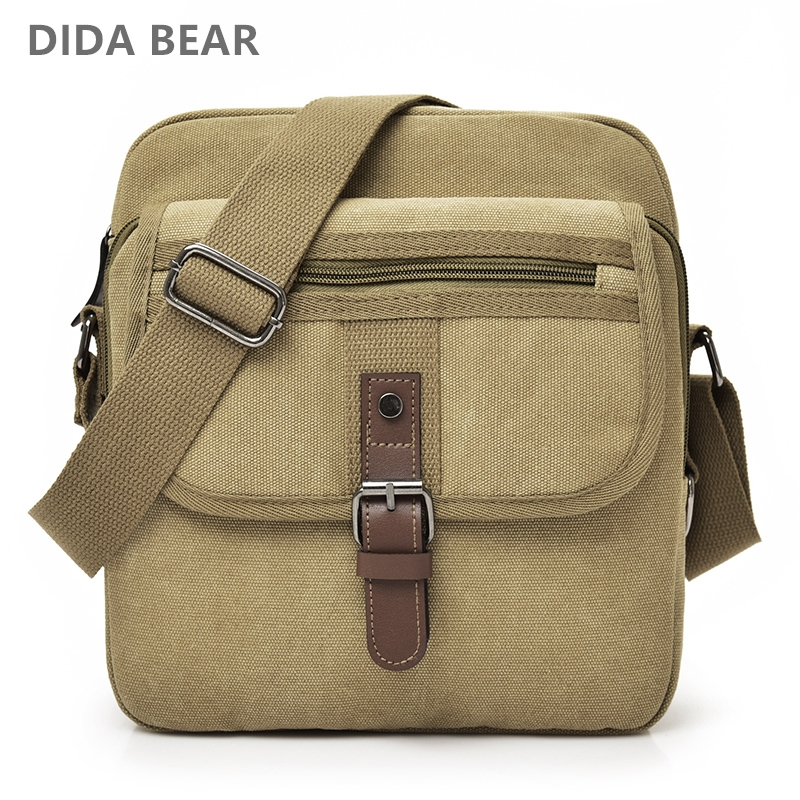 DIDABEAR New Men Crossbody Bags Male Canvas Shoulder Bags Boy Messenger Bags Small Satchels for Travel casual High quality