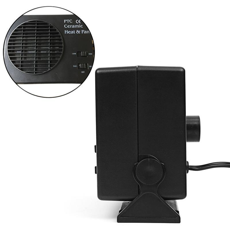 Grey Portable Car Heater,Auto Heater Fan,Car Defogger Fast Heating Quickly Defrosts Defogger 12V 150W Auto Ceramic Heater Fan 3-Outlet Plug in Cig Lighter