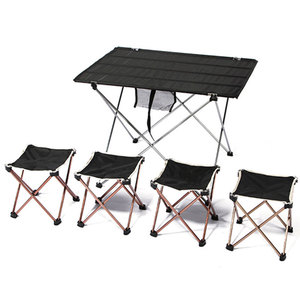Image 4 - Mesa plegable portátil para 4 a 6 personas, mesa ultraligera de aleación de aluminio, para acampar, barbacoa, senderismo, pícnic al aire libre, 7075