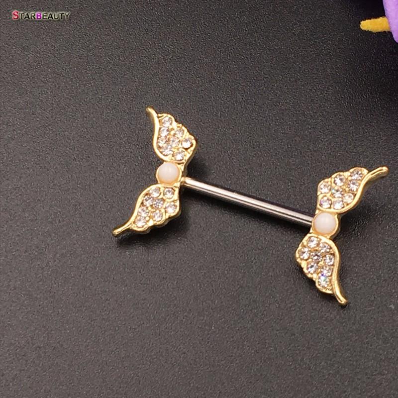 HTB1oC3WOVXXXXajaFXXq6xXFXXXO Starbeauty 2pcs/lot Angel Wing Nipple Piercing Mamilo Sexy Women Nipple Ring Body Jewelry Cute Fake Nipple Cover Pircing Gift