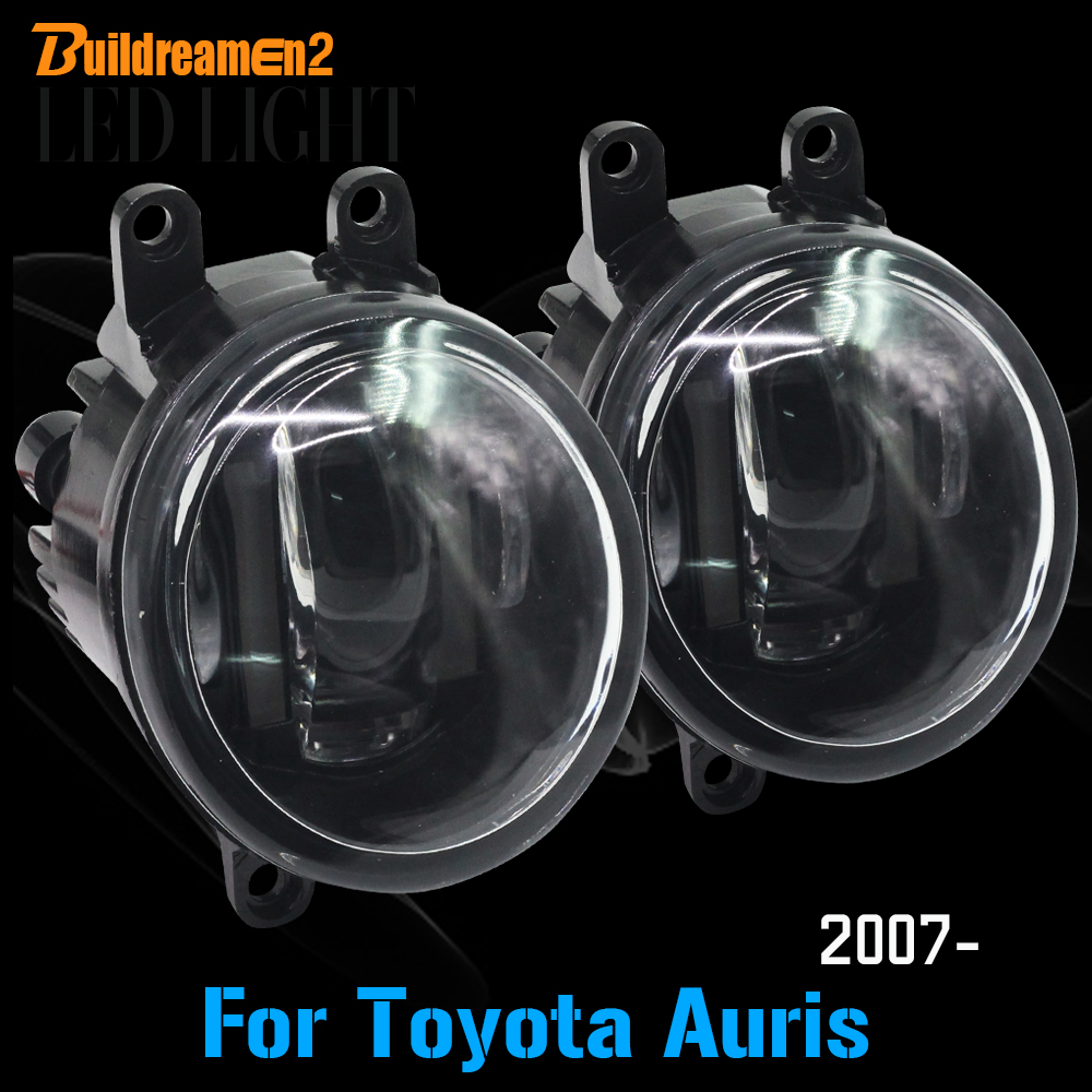 Buildreamen2 1 Pair Car Light Source LED Front Fog Light White Daytime Running Light DRL For Toyota Auris 2007 Onwards new arrival a pair 10w pure white 5630 3 smd led eagle eye lamp car back up daytime running fog light bulb 120lumen 18mm dc12v