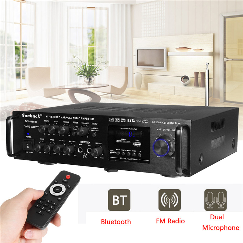 2000W Bluetooth HiFi Power Amplifier Pro Stereo Surround Home Karaoke 220V-240V Stereo Karaoke Home Bluetooth Amplifier cube stereo 160 hpa 27 5 pro