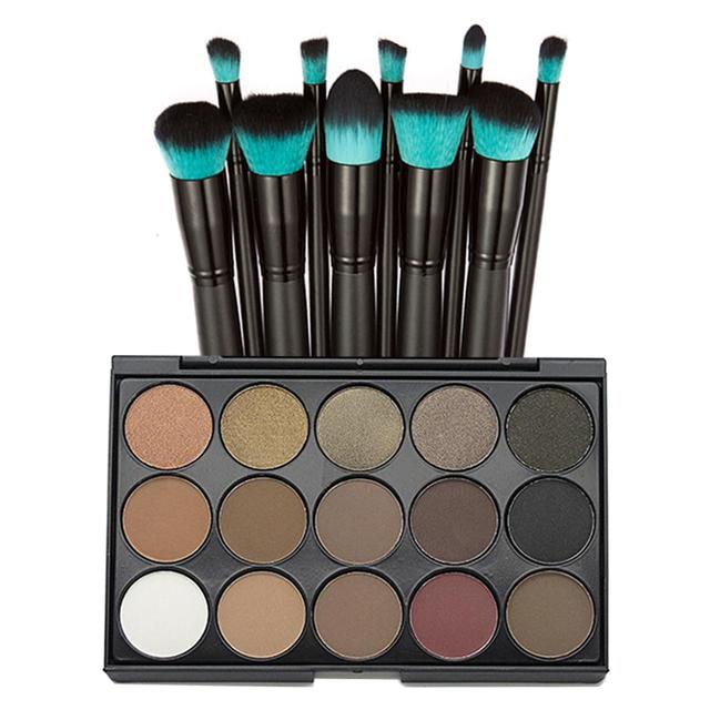 15 colores de sombra de ojos mineral sombra de ojos metálico de china 15 para ojos ahumados paleta