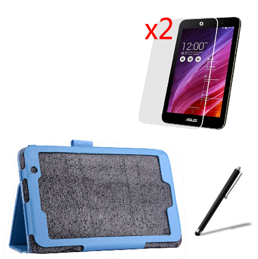 4in1 Luxury Magnetic Folio Stand Leather Case Cover +2x Screen Protector +1x Stylus For ASUS MeMO Pad 7 ME176CX ME176 K013 7 1x clear screen protector ultra magnetic luxury folio stand leather case smart cover for microsoft surface pro 4 pro4 1724