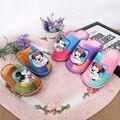 Zapatos de los niños Otoño Invierno Cálido Zapatos de Los Bebés de Algodón Casa Zapatillas antideslizantes Interiores Zapatillas de Niños de Mickey Mouse Para Niños zapatos